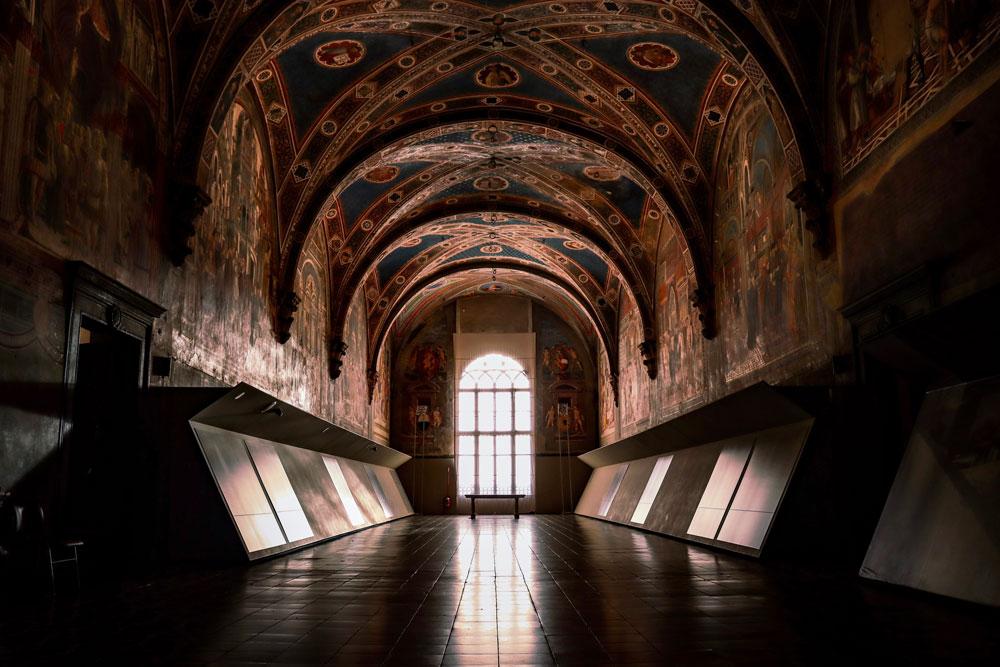 Interno dell'ex ospedale Santa Maria della Scala